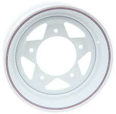 VW White Spoke Steel 10 X 15 5 Lug Pattern Wheels