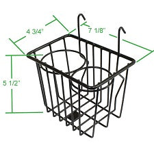 VW Front Wire Hanging Basket Cup Holder Console
