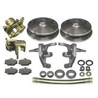 VW Bug And Ghia 1966 to 1977 Front Ball Joint Disc Brake Kit VW Wide 5 On 205 Pattern With 2.5 Inch Drop Spindles