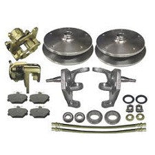 VW Bug And Ghia 1966 - 1977 Front Disc Brake Kit Ball Joint VW Wide 5 On 205 Pattern With 2.5 Inch Drop Spindles
