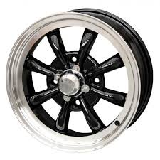 VW 8 Spoke 4 Lug Pattern Wheels Black, Silver Or Chrome