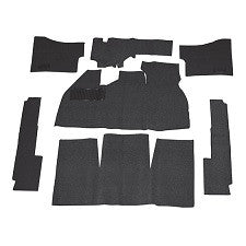 VW Standard Bug Black Loop Carpet Kits