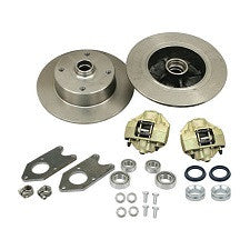 VW Bug And Ghia 1958 - 1965 Front Disc Brake Kit Link Pin VW 4 Lug, Porsche And Chevy Patterns Bolt On