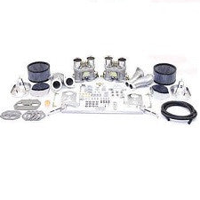 VW Bug, Super Beetle, Ghia And Thing Type 1 And 2 Dual 40 Or 44 HPMX Carburetor Kits