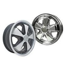 VW Black Or Chrome 911 Porsche Look Alloy Wheels