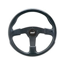 VW Grant GT Rally Molded Poly Grip Black Or Silver Spoke Steering Wheels