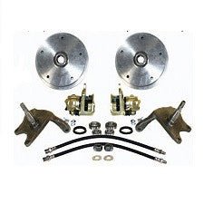 VW Bug And Ghia 1958 - 1965 Front Disc Brake Kit Link Pin VW Wide 5 On 205 Pattern With 2.5 Inch Drop Spindles
