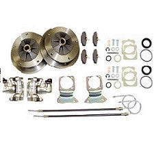 VW Bug, Super Beetle, Ghia And Thing 1973 to 1979 IRS (Long) Rear Disc Brake Kit Zero Off-Set Wide 5 On 205 Pattern With Emergency Brake