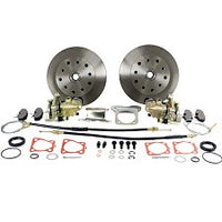 VW Bug And Ghia 1958 to 1967 Rear Disc Brake Kit Swing Axle (Short) VW 4 lug, Porsche, And Chevy Patterns With Emergency Brake