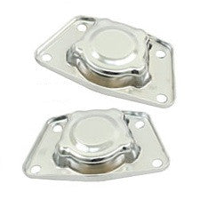 VW Bug, Super Beetle, Ghia And Thing Chrome Spring Plate Covers