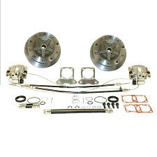 "VW Bug And Ghia 1968 - 1972 IRS (Long Or 1968 w/Swing Axle) Rear Disc Brake Kit 1"" Wider Wide 5 On 205 Pattern With Emergency Brake"