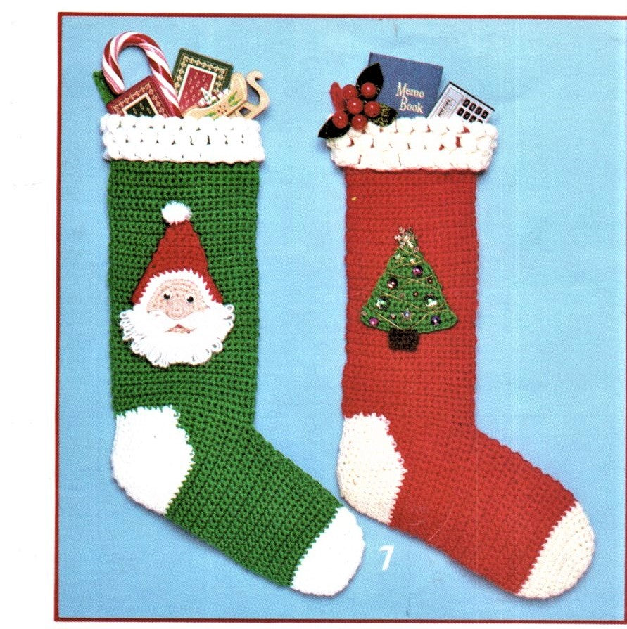 Crochet Christmas Stocking.Vintage Knit Crochet Christmas Stocking Pattern Fair Isle Personalizable Knitted Stockings Stitch Download Pdf Instructions Pattern