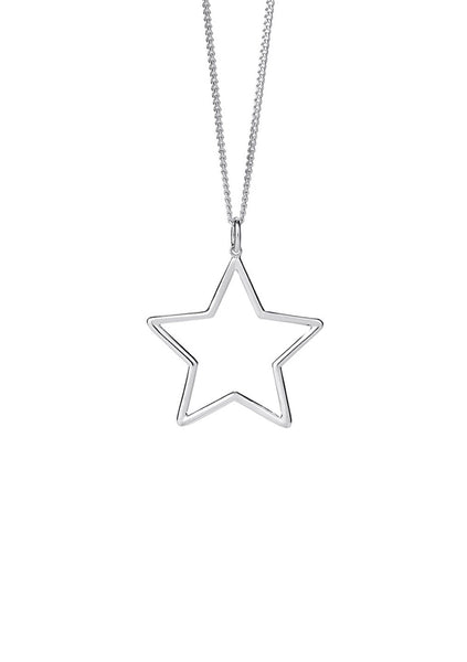 Karen Walker | Star Outline Pendant 45cm - Silver