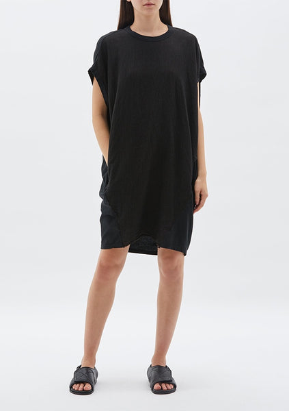 Bassike | Circle Contrast Tank Dress - Black