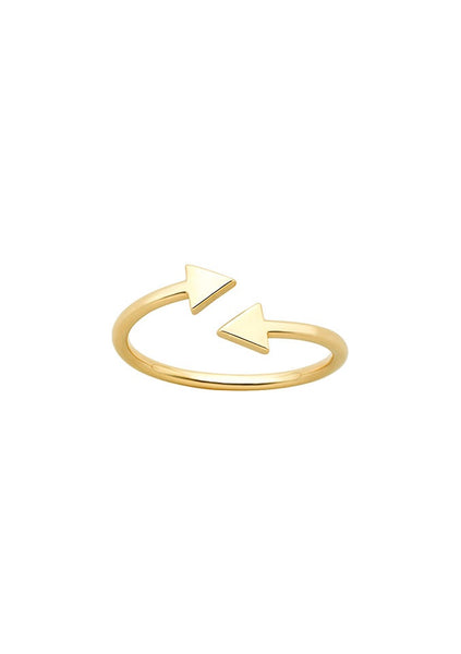Karen Walker | Celestial Arrows Ring - 9ct Yellow Gold
