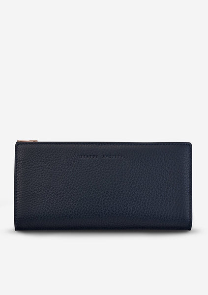 Status Anxiety | In The Beginning Wallet - Navy Blue