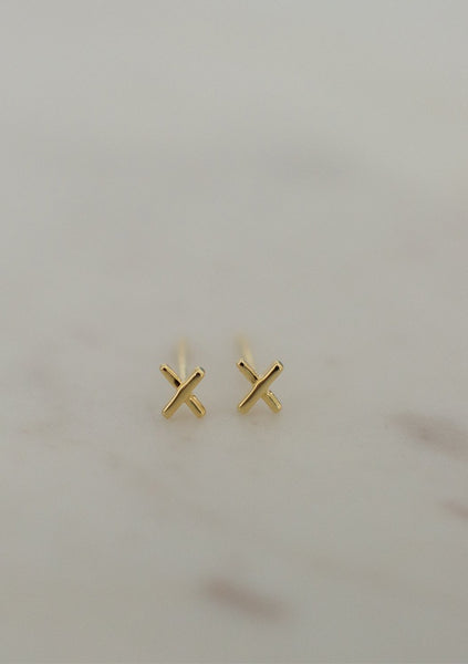Sophie | XX Studs - 14k Gold Plated
