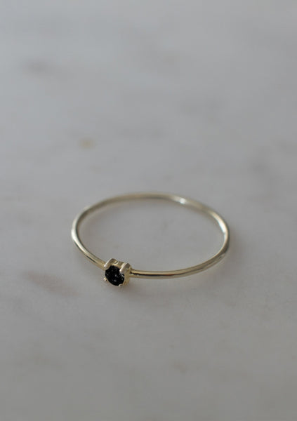 Sophie | Mini Rock Ring Black - Gold