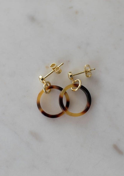 Sophie | Little Tort Hoops Dark - Gold