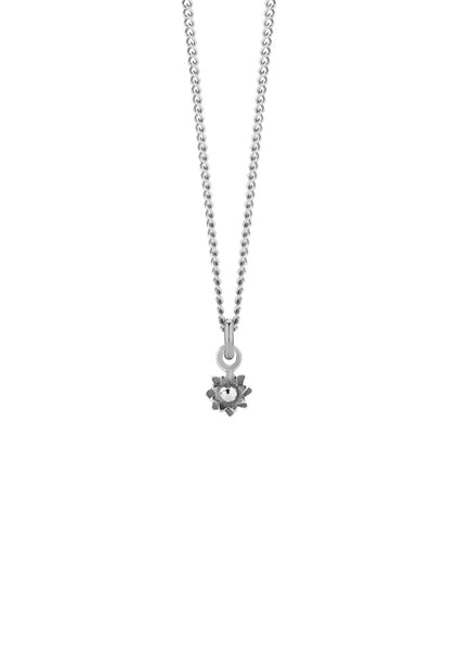 Meadowlark | Micro Protea Charm Necklace - Sterling Silver