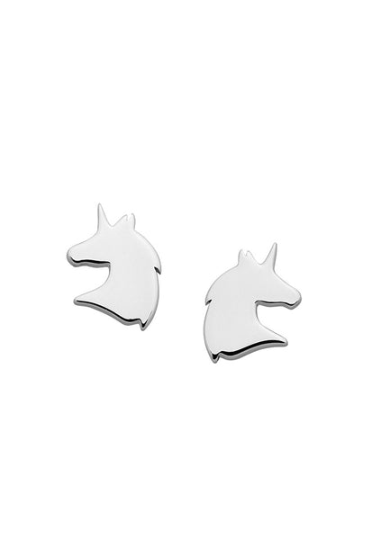 Karen Walker | Mini Unicorn Studs - Sterling Silver