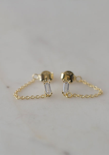 Sophie | You Rock Chain Studs - Gold