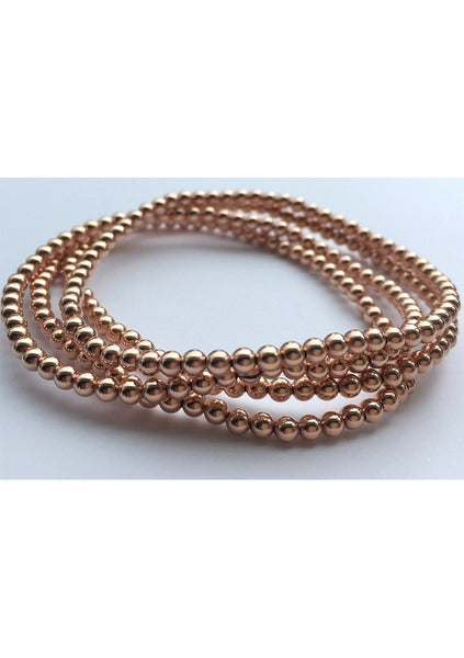 Dane | Rose Gold Bead Bracelet