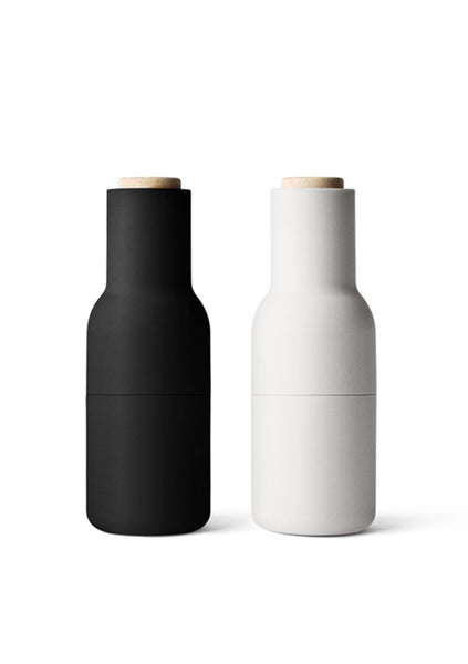 Menu | Bottle Grinder Set - Ash/Carbon w Beech Lid