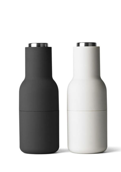 Menu | Norm Bottle Grinder Set - Ash/Carbon w Steel Top