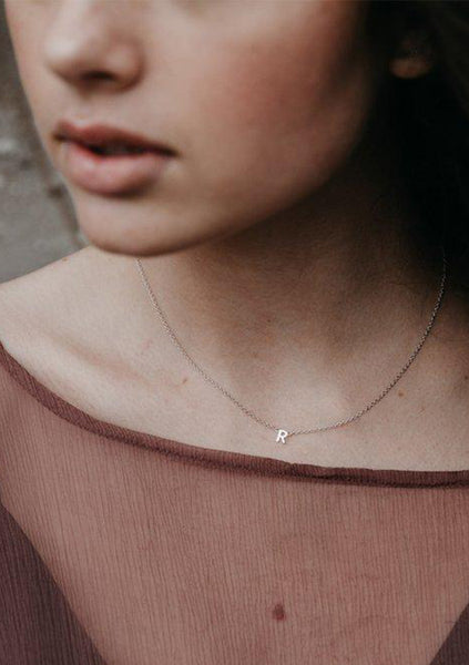 Sophie | Single Little Letter Necklace - Sterling Silver