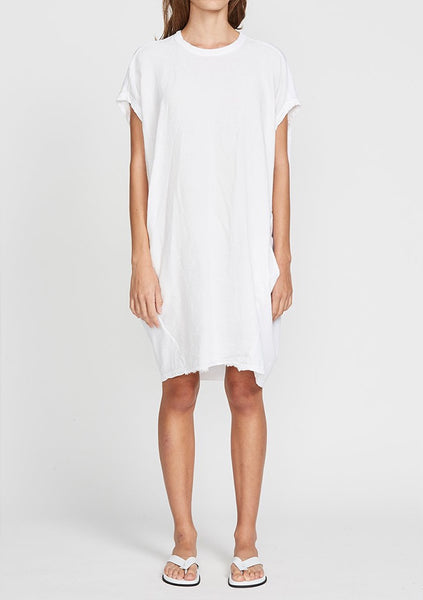 Bassike | Circle Contrast Tank Dress - White