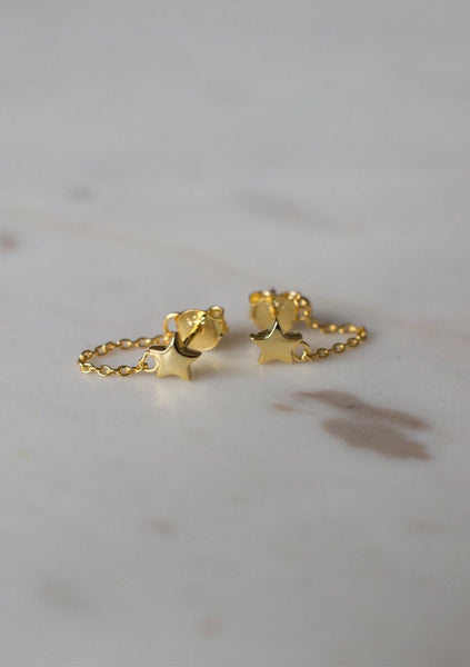 Sophie | Twinkle Chain Stud Earrings - 14kt Gold Plated