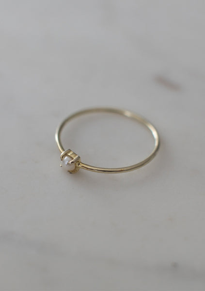 Sophie | Mini Pearl Ring - Gold