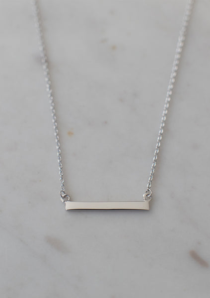 Sophie | Mini Bar Necklace - Silver