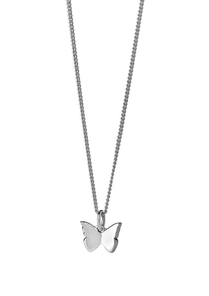 Karen Walker | Mini Butterfly Necklace 45cm - Sterling Silver
