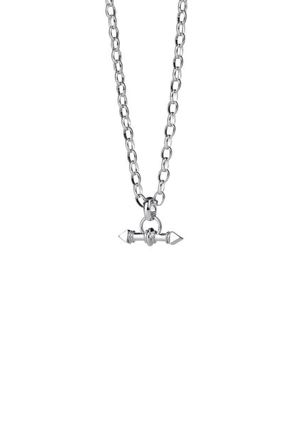 Karen Walker Arrow Fob Chain 45cm - Sterling silver