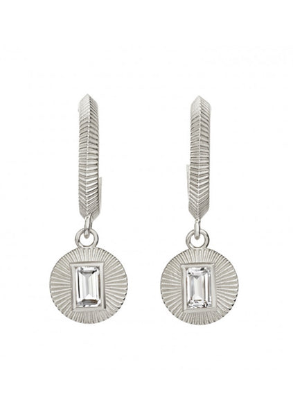Zoe & Morgan | Vera Earrings White Topaz - 925 Sterling Silver