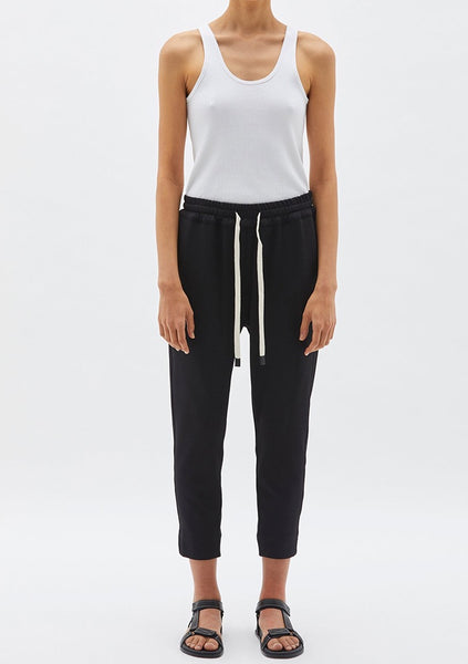 Bassike | Stretch Twill Tapered Pant - Black