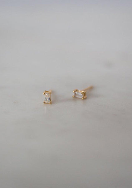 Sophie | You Rock Rectangle Studs - Gold