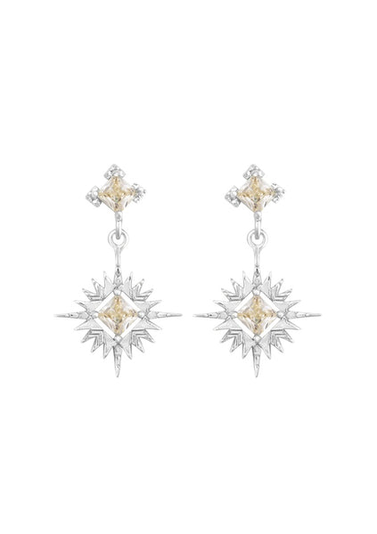 Lindi Kingi | Starburst Earrings - Silver