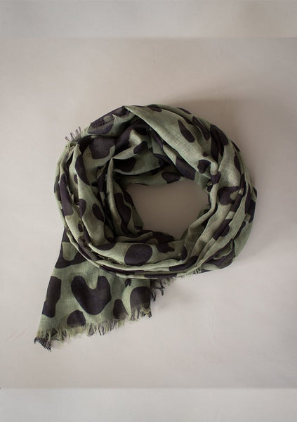 Sophie | Wild Maxi Scarf - Olive
