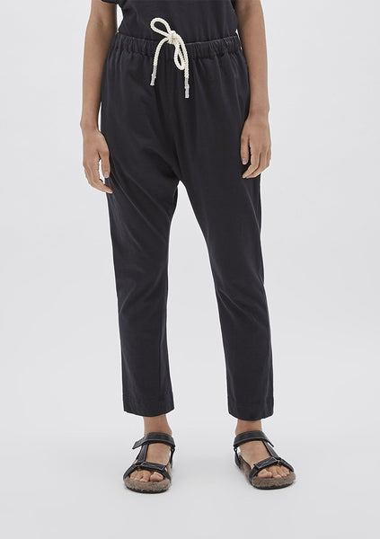Bassike | Double Jersey Long Rise Pant - Dark Navy