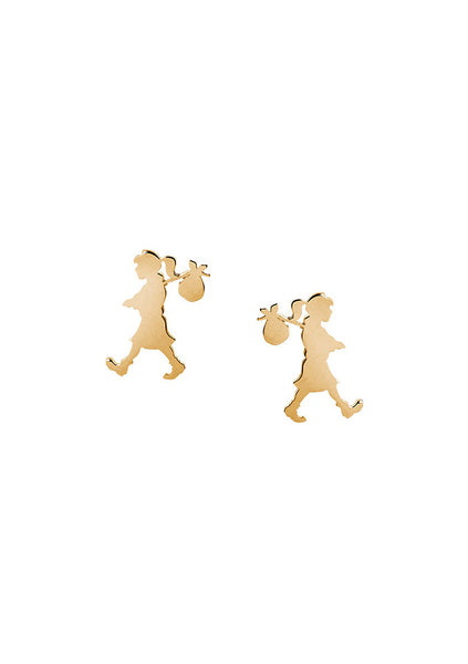 Karen Walker | Runaway Girl Studs - 9ct Yellow Gold