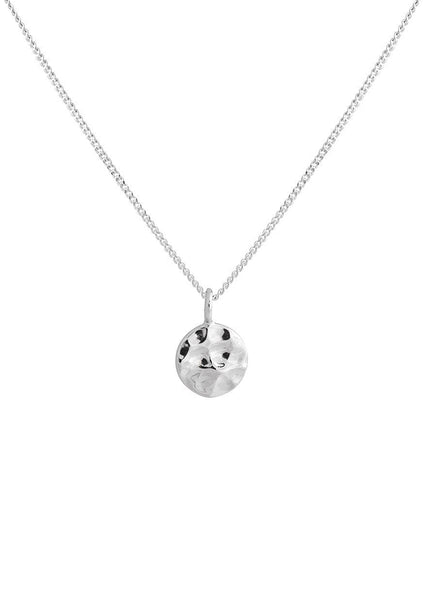 Lindi Kingi | Solaris Hammered Disc Necklace - Silver