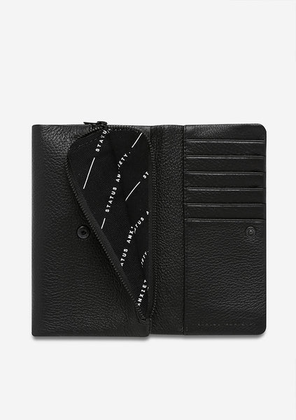 Status Anxiety | Audrey Wallet - Pebble Black