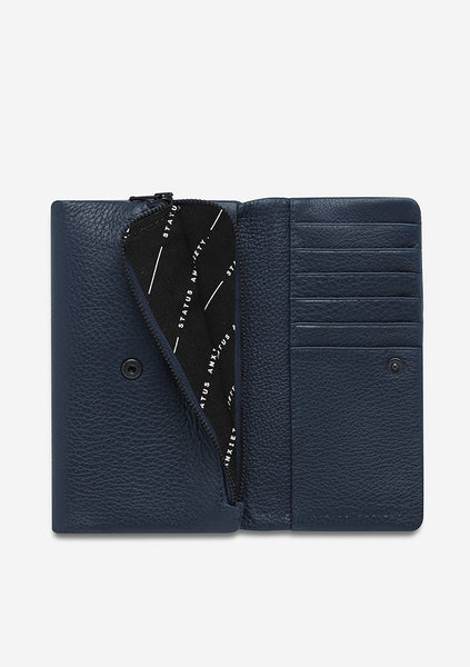 Status Anxiety | Audrey Wallet - Pebble Navy