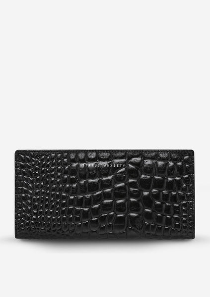 Status Anxiety | In the Beginning Wallet - Black Croc