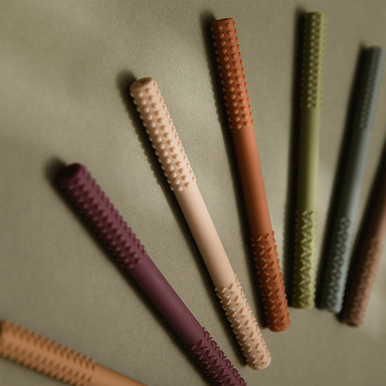 Candy pink burp towel teether set