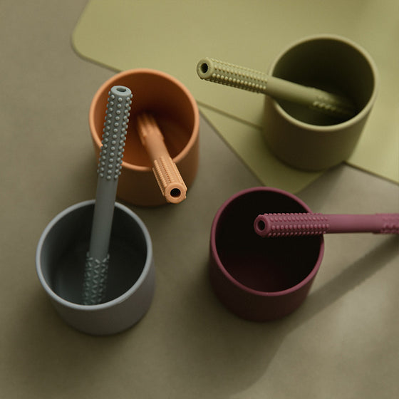 Red burp towel teether set