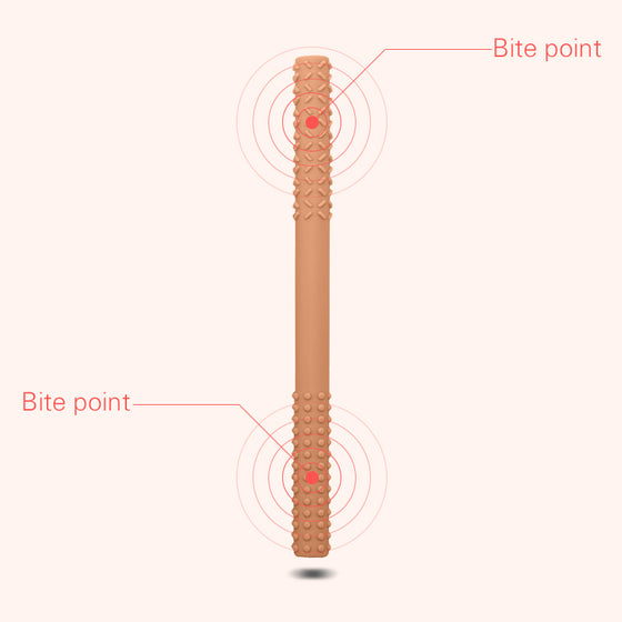 Brown burp towel teether set